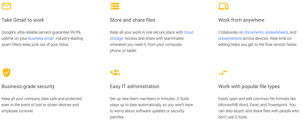 G Suite Promotion Codes and G Suite Features